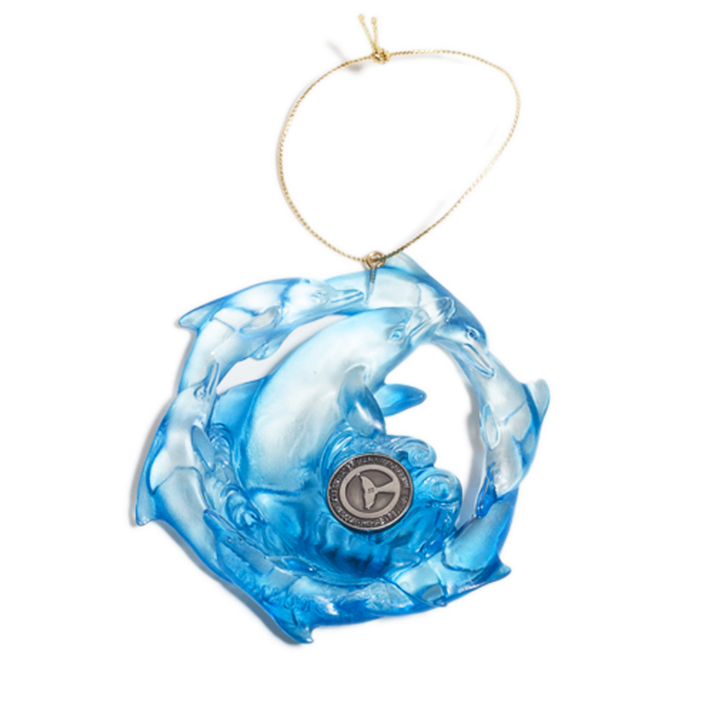Clearwater Marine Aquarium Blue Dolphins Ornament