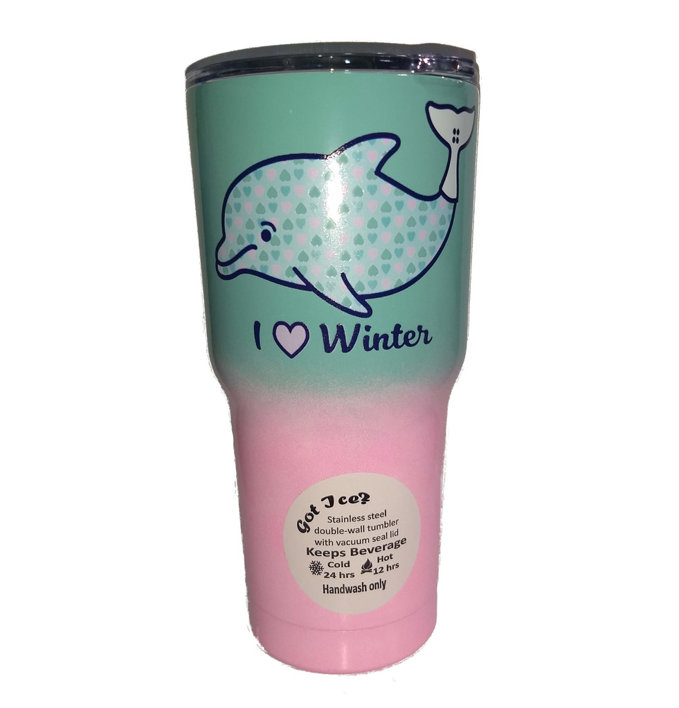 Clearwater Marine Aquarium 30oz I Love Winter Insulated Tumbler