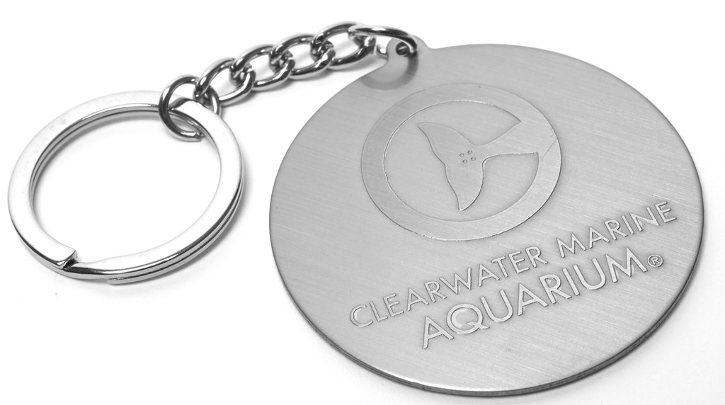 Clearwater Marine Aquarium Logo Metal Keychain