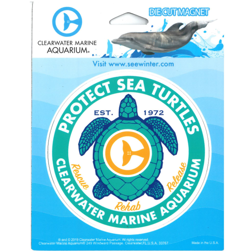 Protect Sea Turtles - Rescue, Rehab & Release Car Magnet