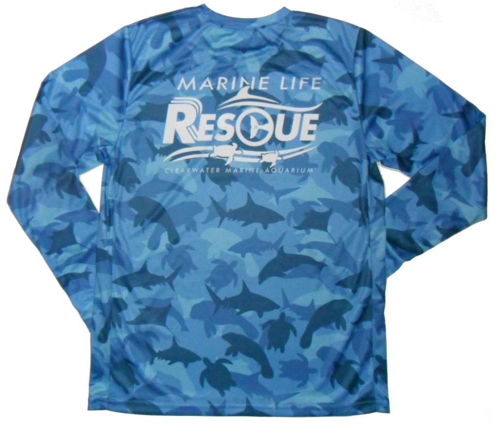 Marine Life Rescue Animal Camouflage Men's Long Sleeve Rash Guard