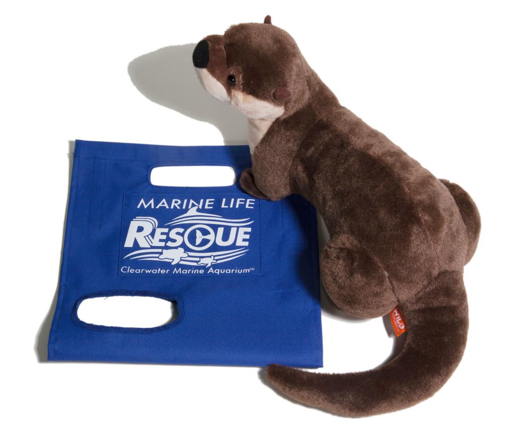 Marine Life Rescue - North American River Otter Plush in Rescue Stretcher