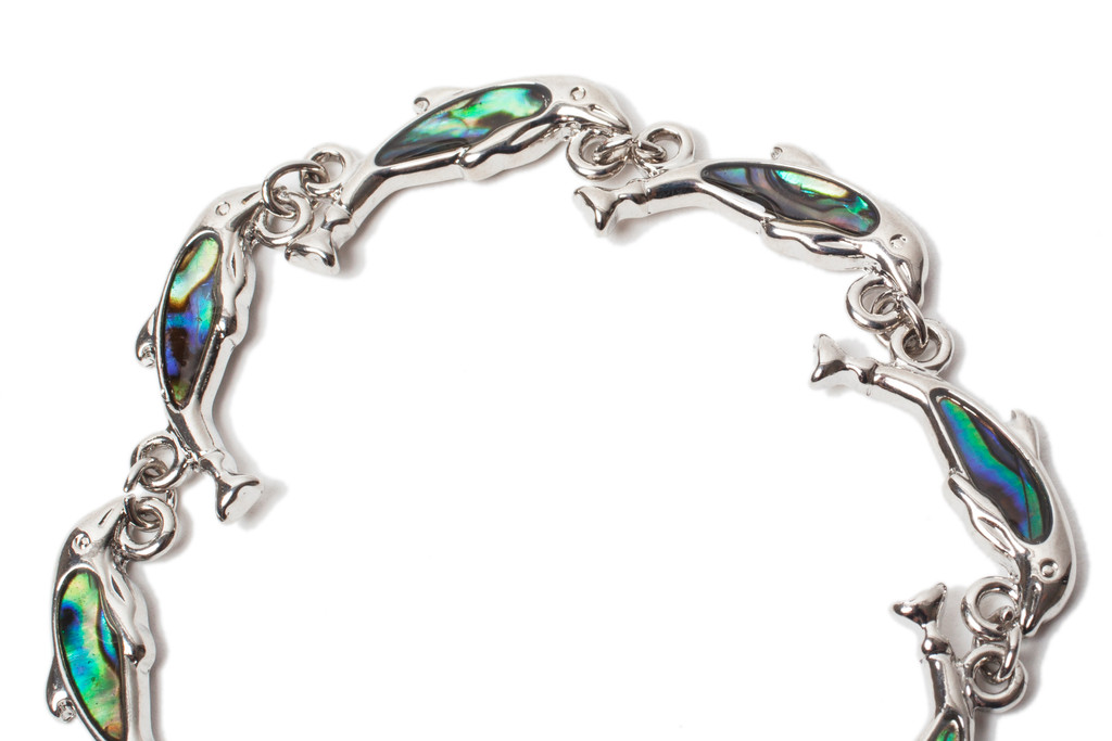 Winter the Dolphin Abalone Shell Bracelet - With Prosthetic Tail