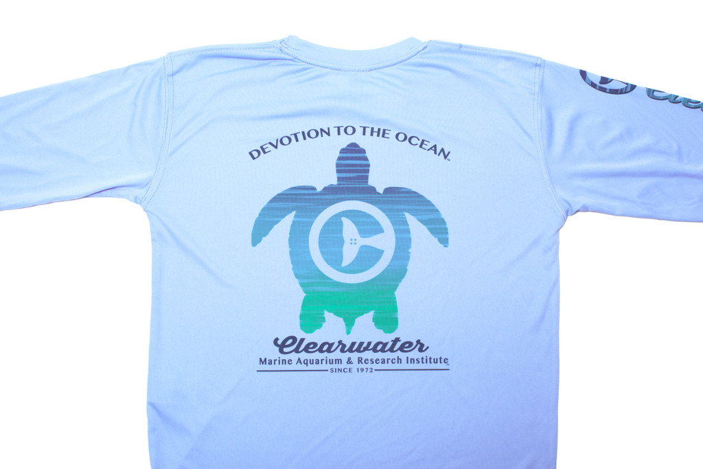 Clearwater Marine Aquarium & Research Institute Devotion To The Ocean Long Sleeve Performance Tee - Youth - Light Blue
