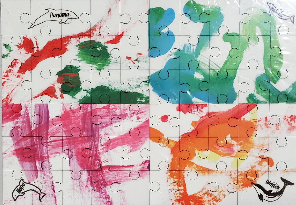 Four Dolphin Art 60-Piece Wood Puzzle