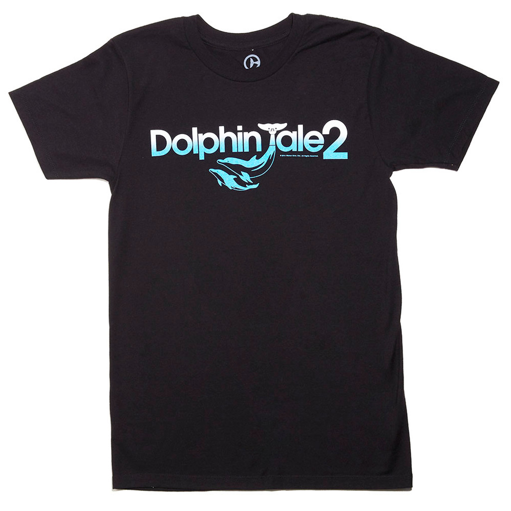 Dolphin Tale 2 Logo Men's Tee - Black