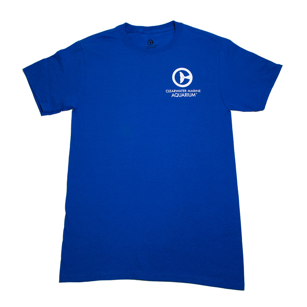 Clearwater Marine Aquarium Logo Adult Tee - Royal Blue