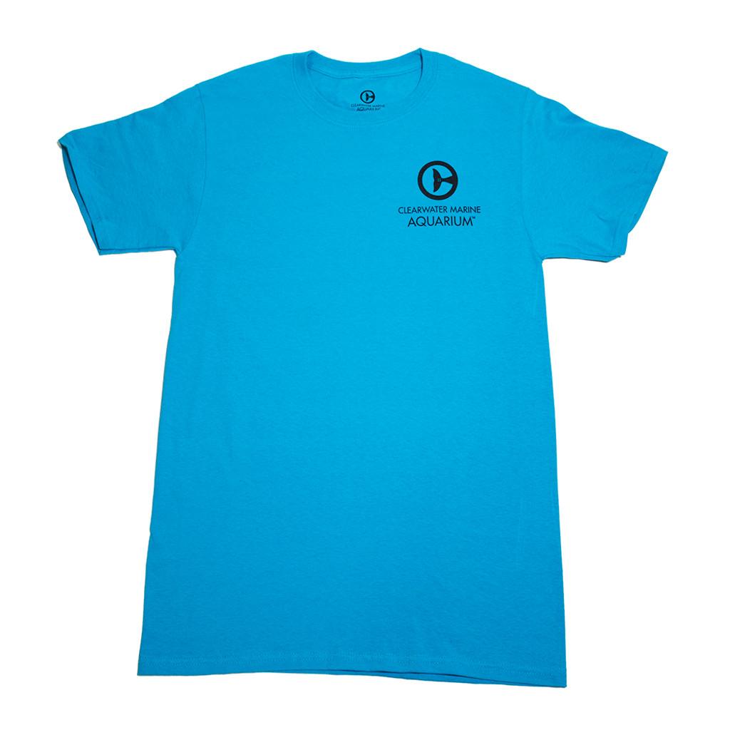 Clearwater Marine Aquarium Logo Men's Tee - California Blue
