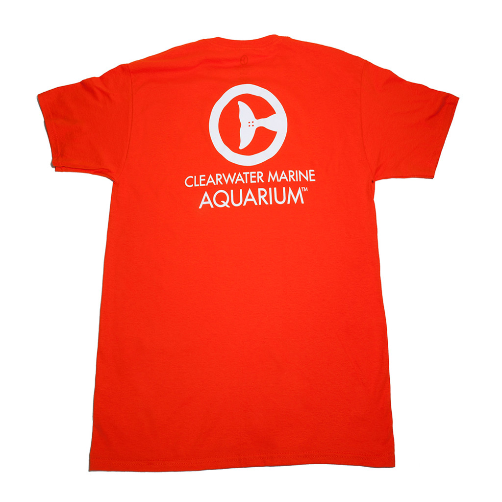 Clearwater Marine Aquarium Logo Adult Tee - Burnt Orange