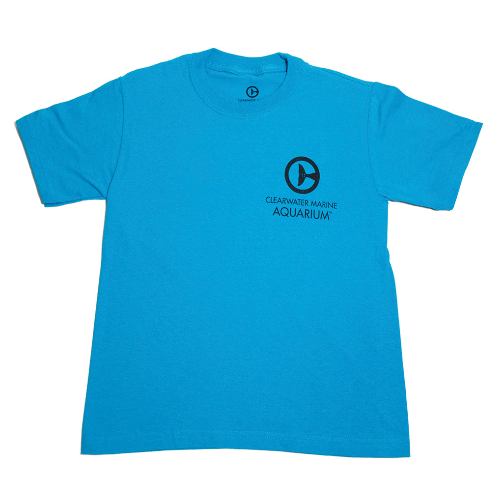 Clearwater Marine Aquarium Logo Youth Tee - California Blue