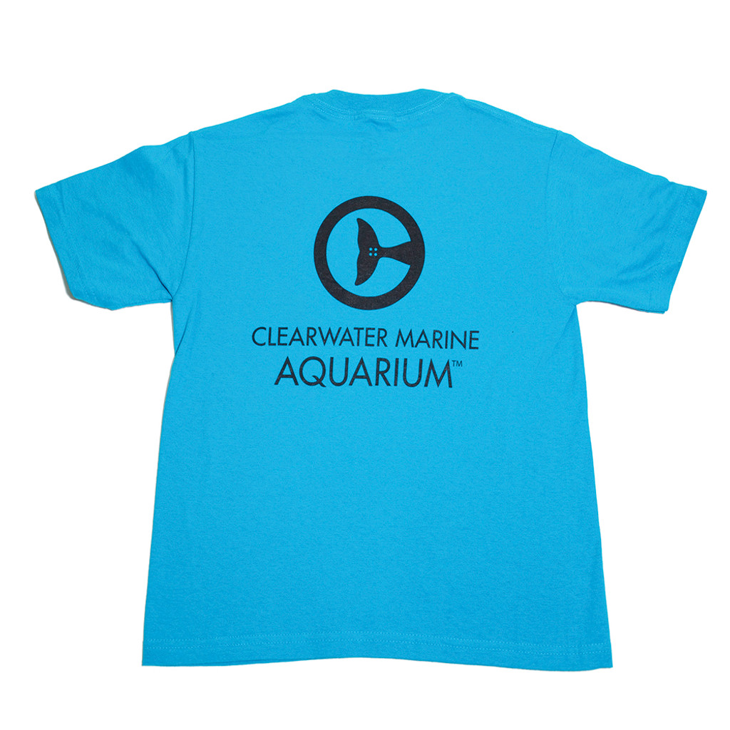 Clearwater Marine Aquarium Logo Boys' Tee - California Blue
