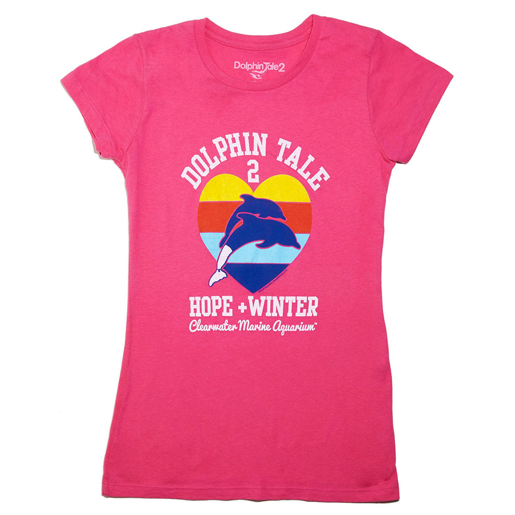 Dolphin Tale 2 Winter & Hope Heart Juniors' Tee