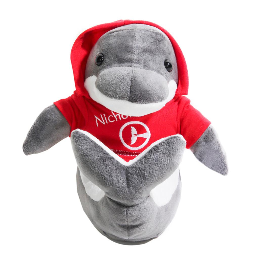 Nicholas the Dolphin Hoodie Plush
