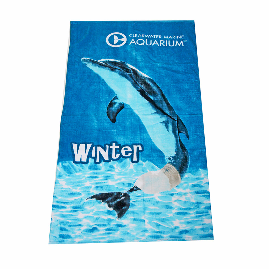 Winter the Dolphin Classic Beach Towel