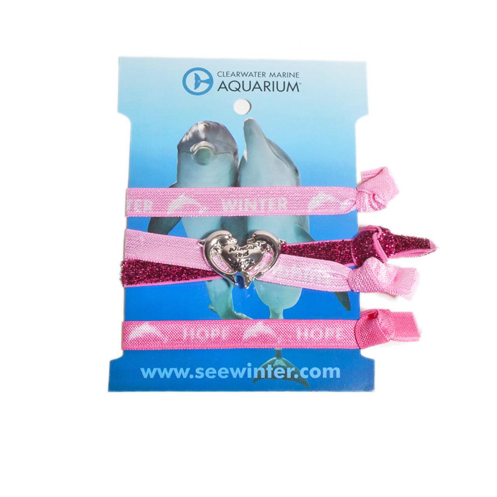 Clearwater Marine Aquarium Winter & Hope Hair Tie/Bracelet Set