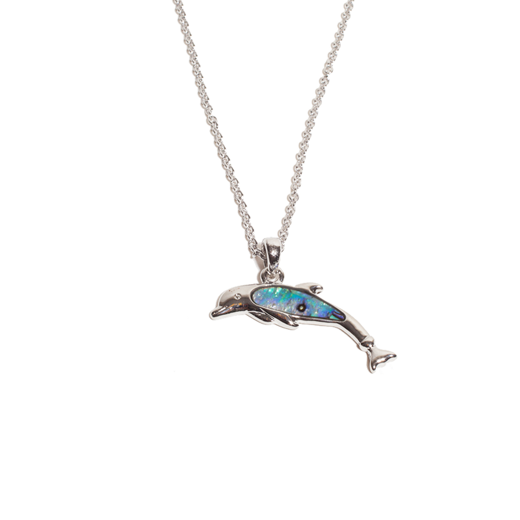Winter the Dolphin Abalone Shell Necklace - With Prosthetic Tail
