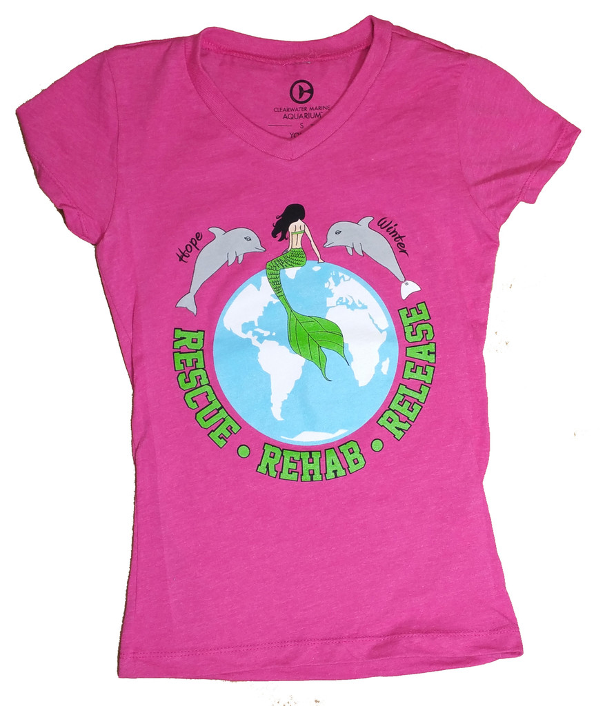 Green Ocean Mermaid Girls' Tee
