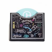 Clearwater Marine Aquarium Inspirational Chalk Print Magnetic Note Box