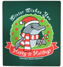Happy Holidays Winter the Dolphin Mousepad