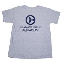 Clearwater Marine Aquarium Logo Youth Tee - Gray