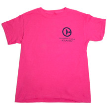 Clearwater Marine Aquarium Logo Youth Tee - Pink