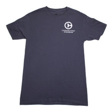 Clearwater Marine Aquarium Logo Adult Tee - Charcoal Gray