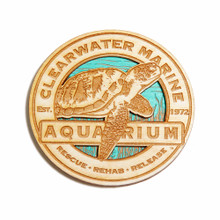 Clearwater Marine Aquarium Sea Turtle Wooden Magnet