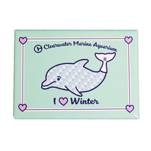 Clearwater Marine Aquarium Love Winter Rectangle Magnet