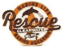 Clearwater Marine Aquarium Retro Rescue Iron-On Patch - Orange