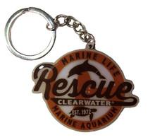 Clearwater Marine Aquarium Retro Rescue Metal Keychain - Orange