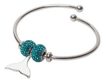 Sparkle Life Dolphin Tail Fluke Bracelet with Swarovski Crystals