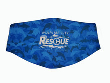 Clearwater Marine Aquarium Face Mask - Marine Life Rescue Animal Camouflage