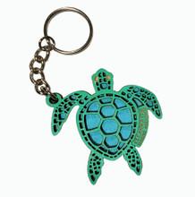 Clearwater Marine Aquarium Tribal Turtle Wood Keychain