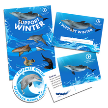Looking for a way to assist Clearwater Marine Aquarium  in its mission of preserving our marine life and environment while inspiring the human spirit through leadership in education, research, rescue, rehabilitation, and release?   Check out our cool fundraiser kit! This kit includes everything you need to start your very own fundraiser for Winter and all of her friends at the Clearwater Marine Aquarium.