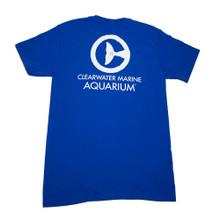 Clearwater Marine Aquarium Logo Adult Tee - Royal Blue