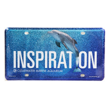 Winter the Dolphin Inspiration Glittered Car Tag