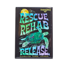 Vintage Turtle Rescue, Rehab & Release Magnet