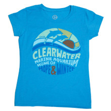 Clearwater Marine Aquarium Sunset Girls' Tee