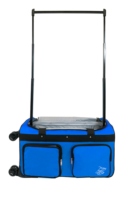 Medium Blue 4x Dual  Wheel Bag
