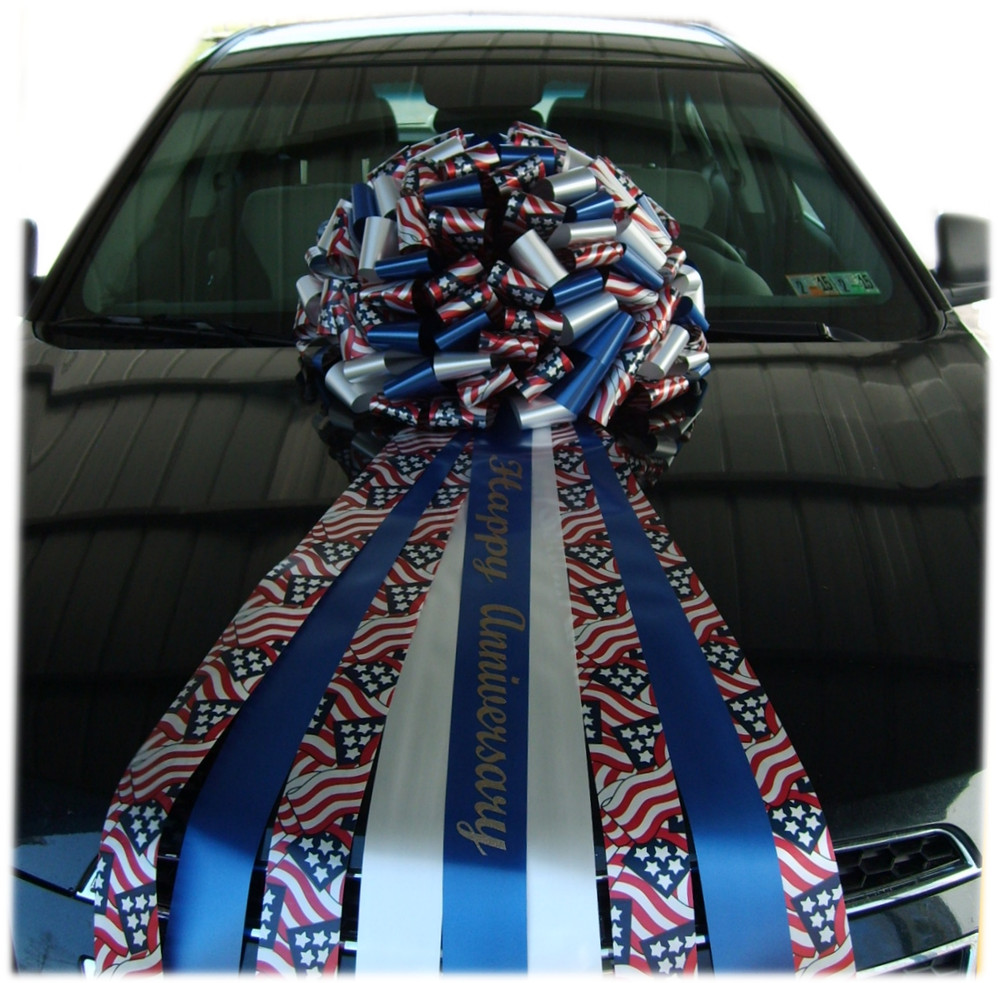 Patriotic Car Bows