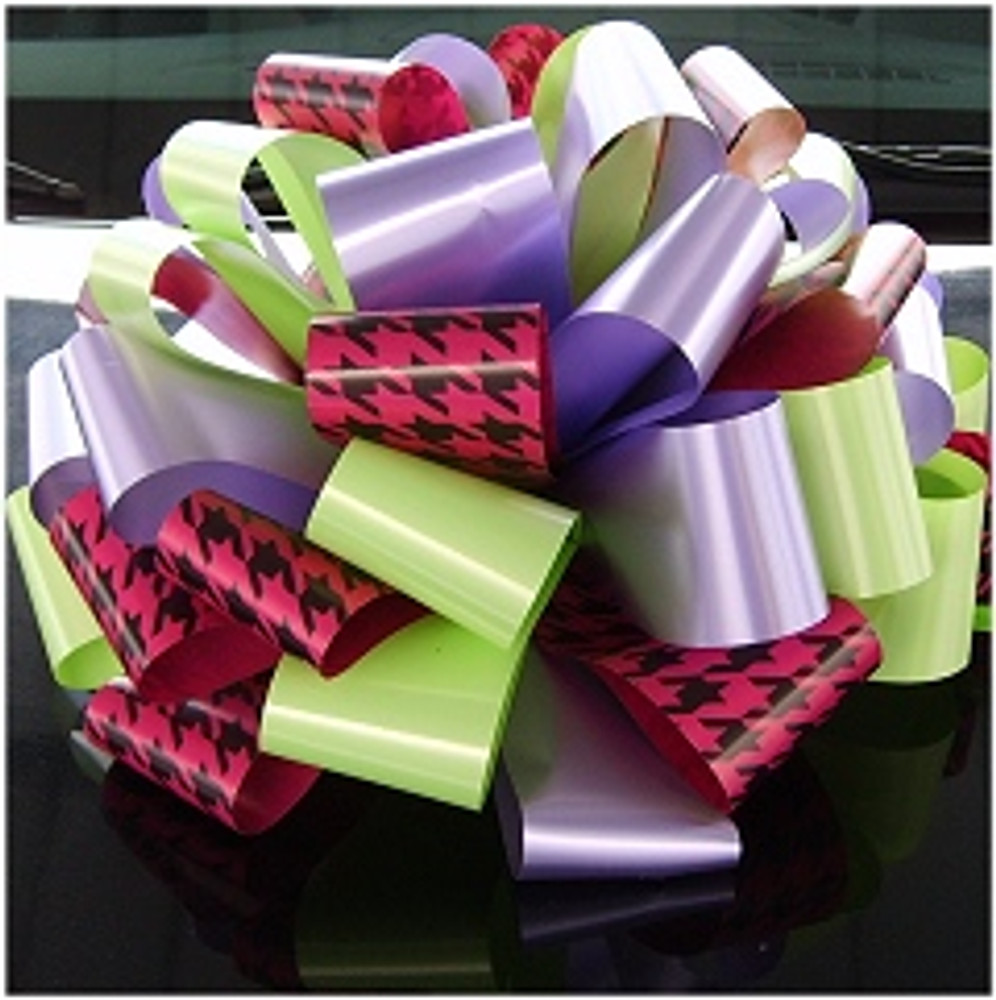 HoundsTooth Car Bows