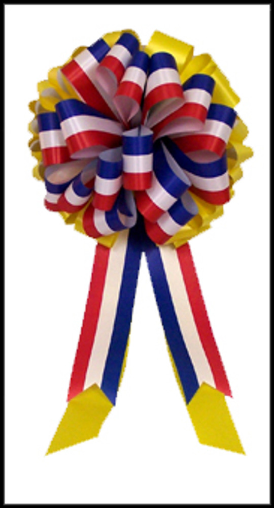 Yellow Bows - Patriotic Bows - Red, White & Blue Bow