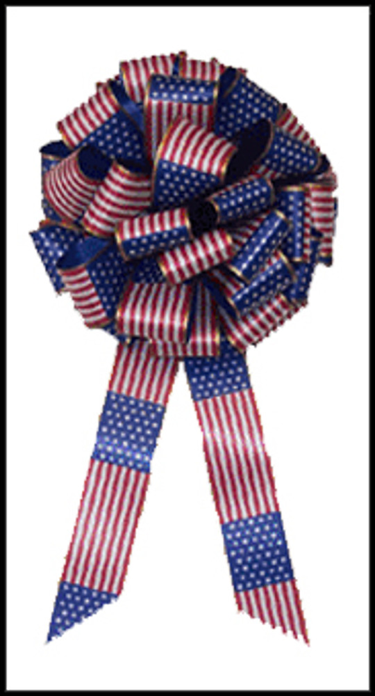 Patriotic Flag Bows - Support Our Troops Ribbon
