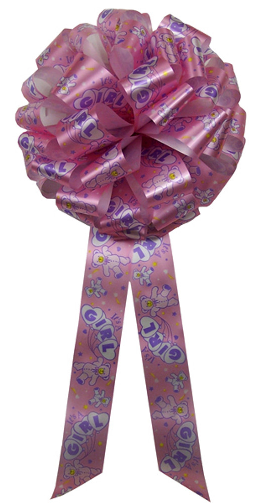 """12"""" Baby Bows - It's a Girl in Pink"""