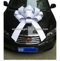 "Large 30"" Structural Magnetic Car Bow with basic ribbon and choice of color"
