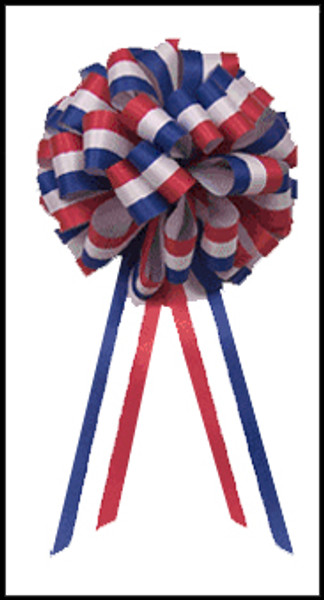 Red, White and Blue Patriotic Bows - Large Bows