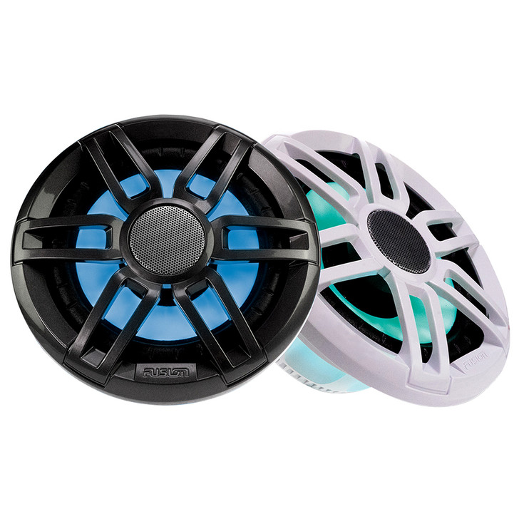 """FUSION XS-FL65SPGW XS Series 6.5"""" - RGB 200 Watt Sports Marine Speakers - Grey  White Grill Options [010-02196-20]"""