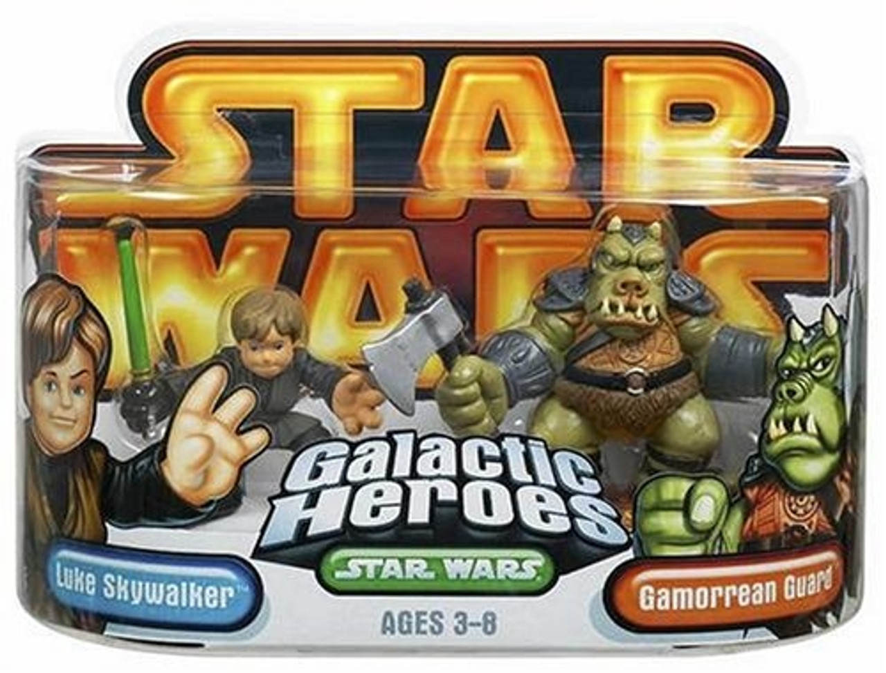 Star Wars Episode 3 Junior Figure 2 Pack Luke Jedi & Gammorean (