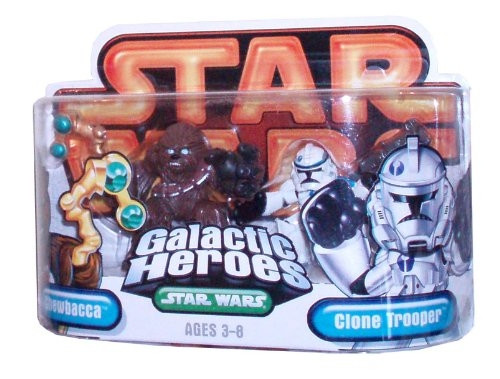 Star Wars Episode 3 Junior Figure 2 Pack Chewbacca & Clone Troop