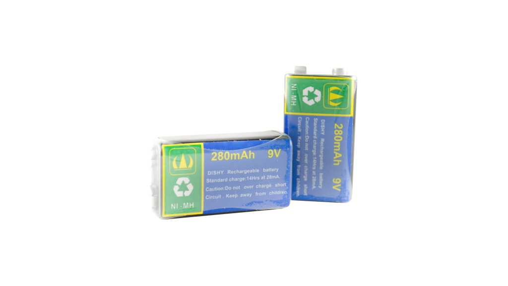 Two (2) 9v Rechargeable Batteries